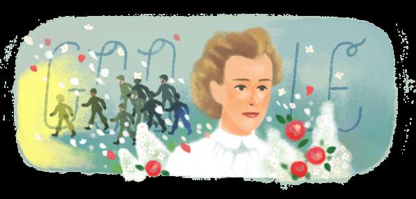 Google hôm nay đã đổi logo kỷ niệm 153 năm ngày sinh của Edith Cavell