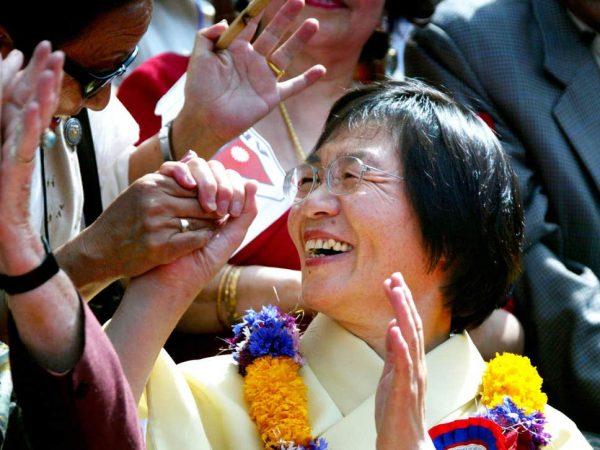 Junko Tabei, ảnh năm 2003, trở thành người phụ nữ đầu tiên leo lên đỉnh Everest năm 1975 (Ảnh Getty)