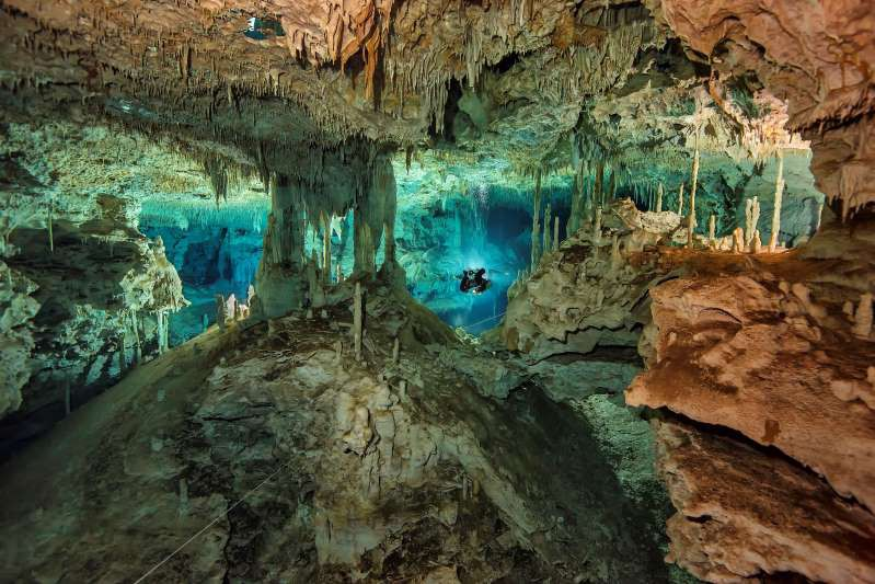 Sông ngầm dưới đáy biển Cenotes ở Mexico