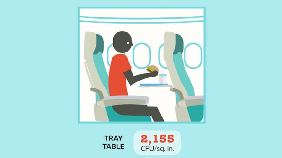 Kéo dài sau khi dư vị của bữa ăn hạng phổ thông của bạn đã qua, vi khuẩn thích sinh sôi trên chiếc bàn khay nhựa mà bạn đã ngồi ngay đó.
