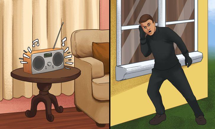 Bật đài khi bạn vắng nhà