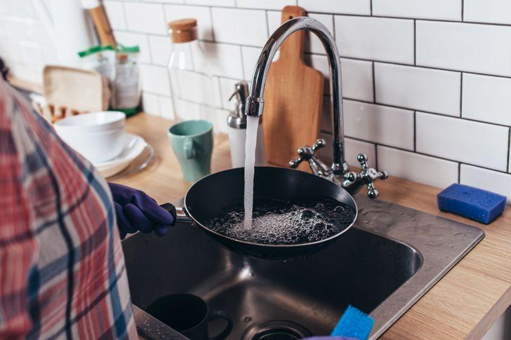 Một vòi cao trong nhà bếp