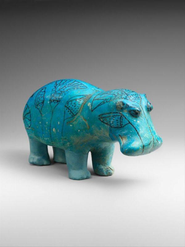 "Hippopotamus (""William""), ca. 1961–1878 B.C. Ảnh https://news.artnet.com/"