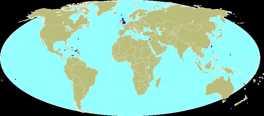 Bản đồ từ năm 2014 của các thành viên FIFA không được LHQ công nhận là các quốc gia độc lập