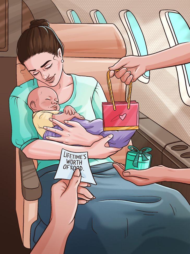Điều gì sẽ xảy ra nếu một người phụ nữ sinh con trên máy bay