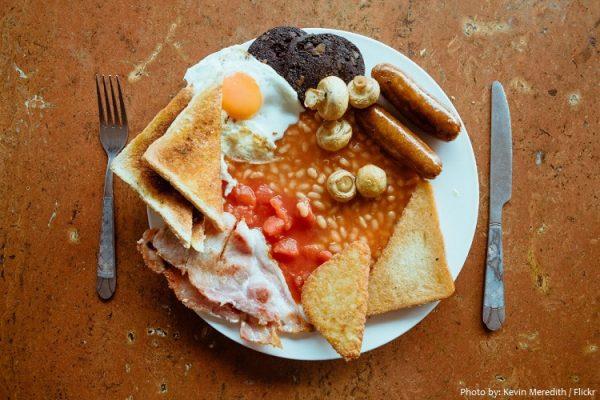 Bữa ăn Sáng phổ biến tại Vương Quốc Anh