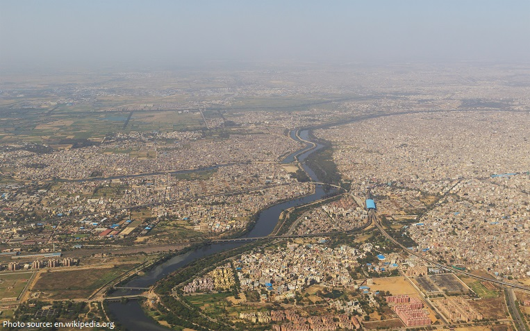 Từ trên cao nhìn xuống Thành phố Delhi