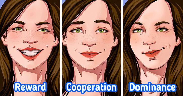 Có 3 nhóm nụ cười chính