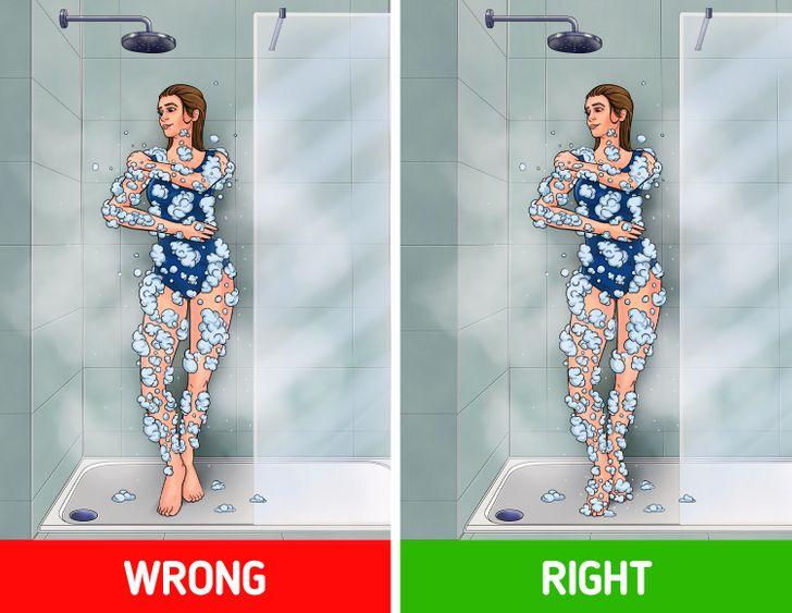 6 bộ phận cơ thể bạn có thể rửa sai khi tắm