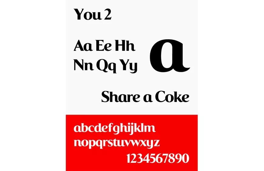 Một kiểu chữ mới đã được phát minh cho chiến dịch 'Chia sẻ Coke' của Coca-Cola