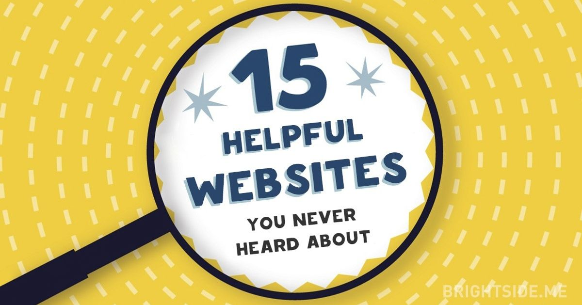 15 trang web hữu ích mà bạn chưa từng nghe đến