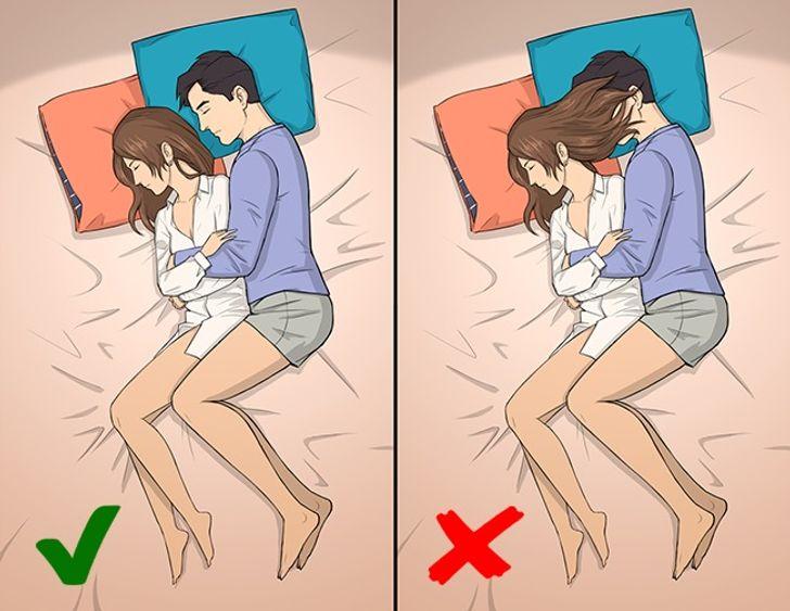 Hãy đặtmột tư thế mà bạn cảm thấy thoải mái nhất và cố gắng không thay đổi nó cho đến khi bạn chìm vào giấc ngủ.