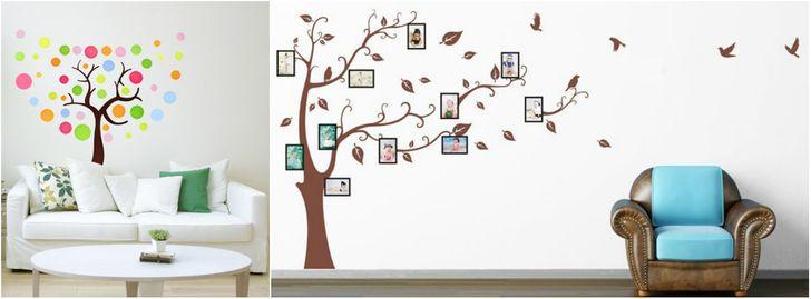 Nếu bạn không tự tin với khả năng hội họa của mình, bạn có thể mua những bức tranh dán tường hình cây tuyệt đẹp