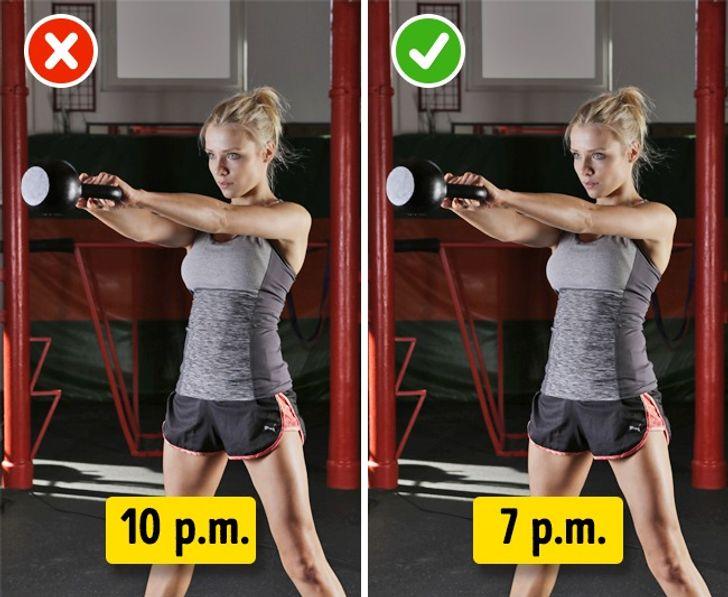 Tập thể dục không dưới3 giờ trước khiđi ngủ.