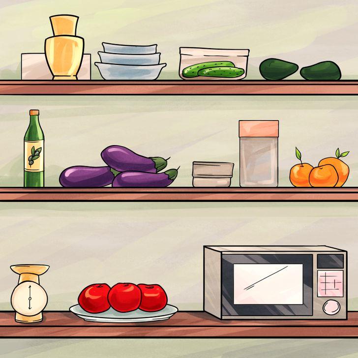 Những thực phẩm có thể để trên kệ bếp hoặc trên bàn thay vì để trong tủ lạnh