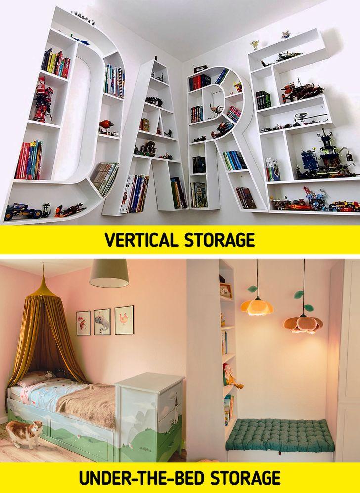 - kho lưu trữ dọc -kho lưu trữ dưới gầm giường