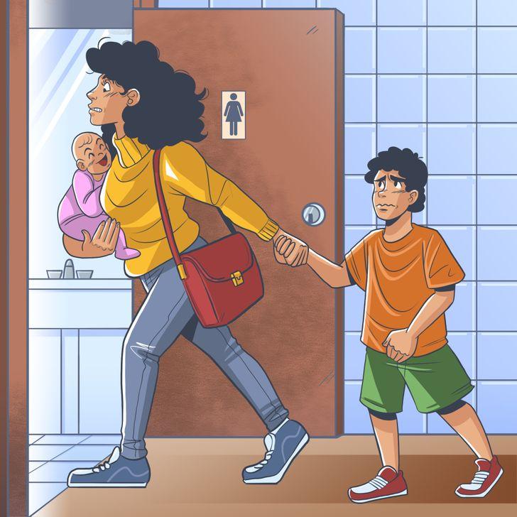 tất cả chúng ta đều biết rằng bất cứ lúc nào cũng có lúc bạn cần đi vệ sinh cùnglũ trẻ