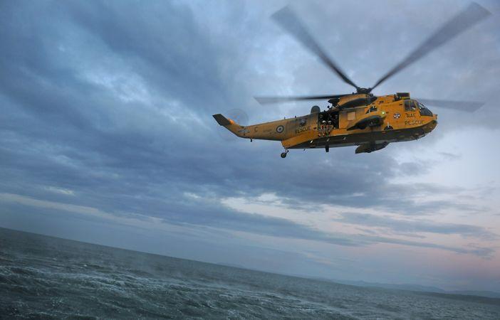 Máy bay trực thăng Sea King được William bay vào năm 2010.
