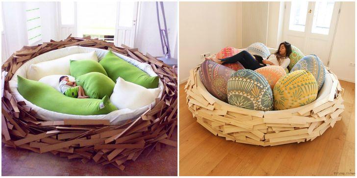 Giường mang dáng hình một cái tổ