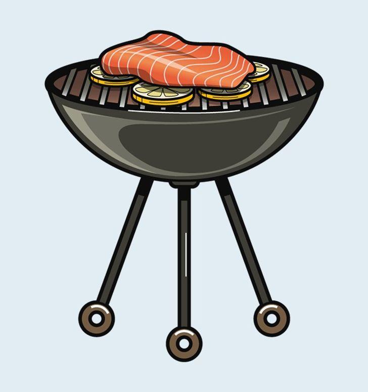 Đặt một lớp lát chanh nhỏ ngăn cách giữa cá và vỉ nướng sẽ và món ăn của sẽ bạn lên tàm cao mới.