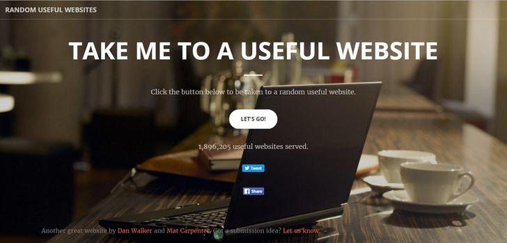 Với mỗi cú nhấp chuột, trang web này sẽ đưa bạn đến các trang khác nhau nhưng hữu ích.