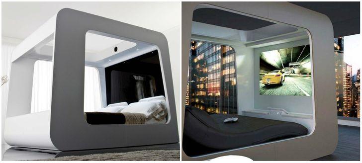 Giường tích hợp TV