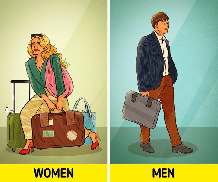 Một cuộc khảo sát cho thấy phụ nữ mang đồ quá nhiều đến2/3khi đi du lịch!Điều này cuối cùng trở thành một gánh nặng hành lý và hầu hết chúng ta có lẽ đã quen với nó.