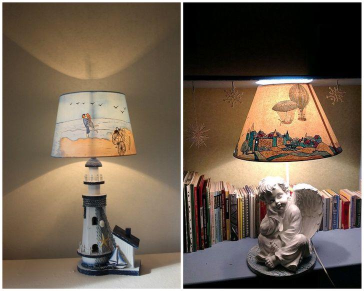 Bạn có thể dễ dàng làm một tấm che chụp đèn sáng tạo và sơn nó theo ý muốn!