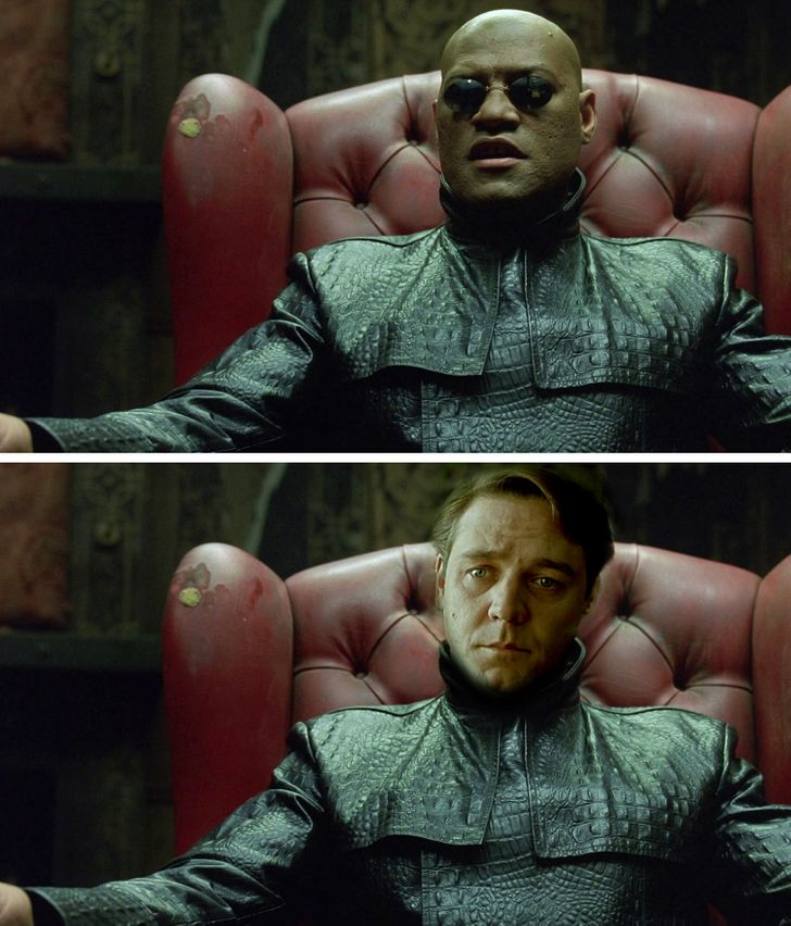 Russell Crowe trong vai Morpheus