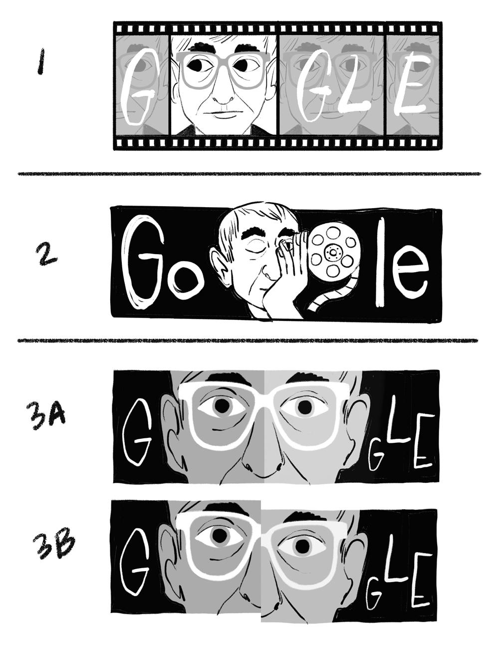 Bản nháp đầu tiên của Doodle - Logo Google 27/06/2021