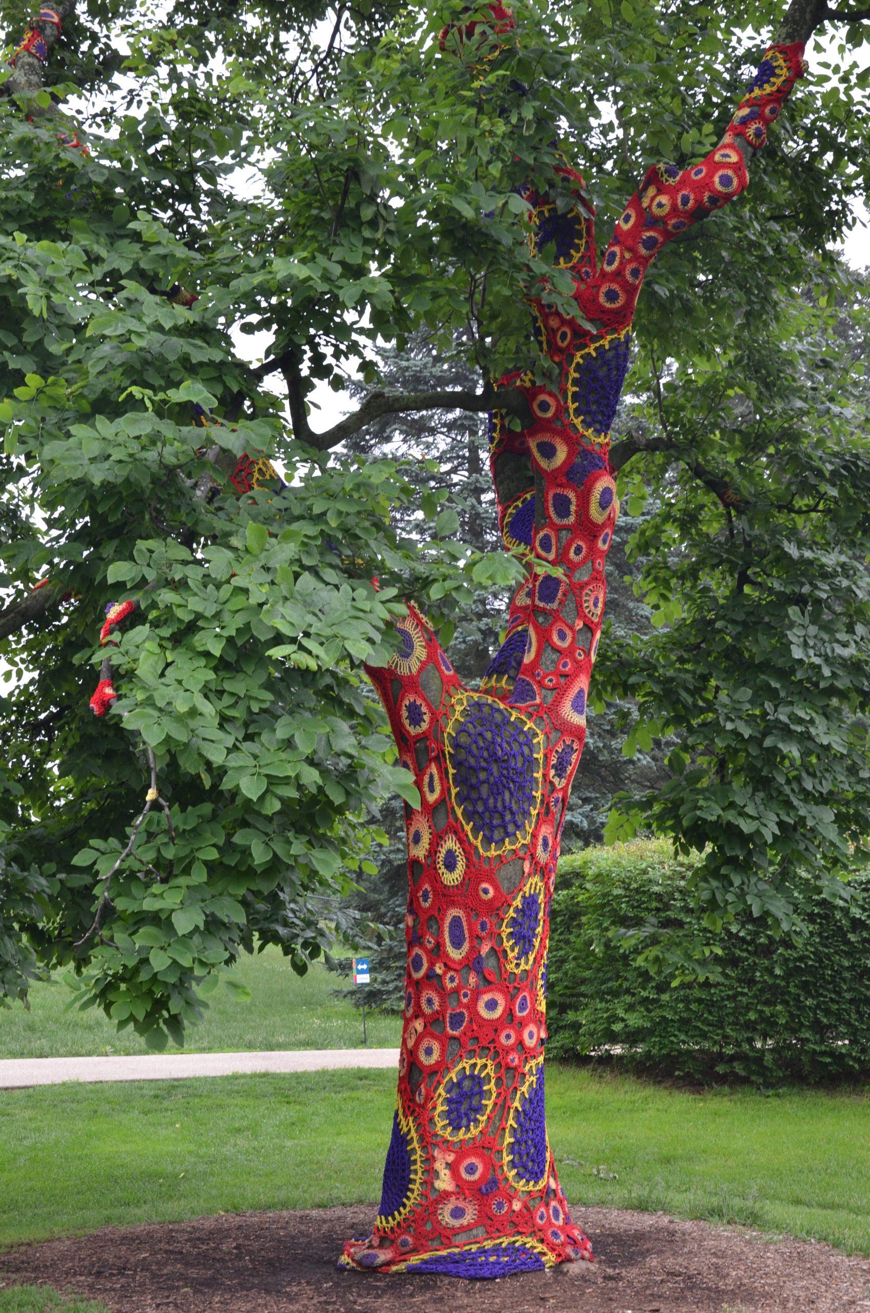 Crocheted Tree Cozy tại Arboretum