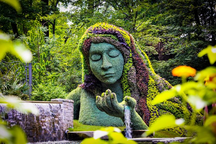 Nữ thần tự nhiên tại vườn bách thảo Atlanta