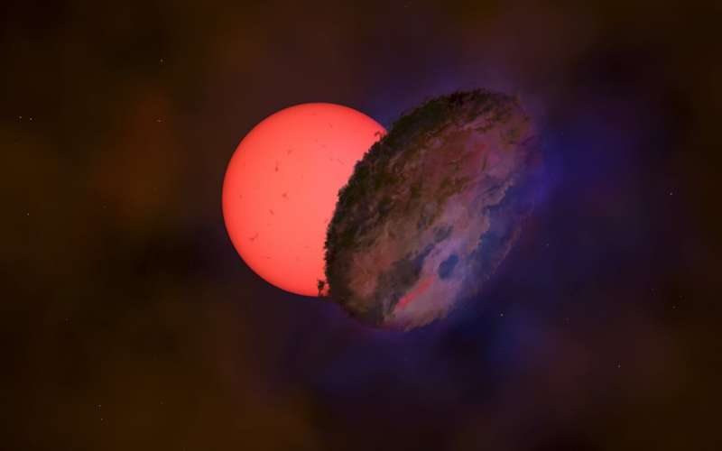 Các nhà thiên văn học đã phát hiện ra một ngôi sao khổng lồ 'nhấp nháy' về phía trung tâm của Dải Ngân hà, cách chúng ta hơn 25.000 năm ánh sáng. Một nhóm các nhà thiên văn học quốc tế đã quan sát ngôi sao VVV-WIT-08, giảm độ sáng đi 30, đến nỗi nó gần như biến mất khỏi bầu trời. Trong khi nhiều ngôi sao thay đổi độ sáng do chúng xung quanh hoặc bị che khuất bởi một ngôi sao khác trong hệ nhị phân, thì rất hiếm khi một ngôi sao trở nên mờ hơn trong khoảng thời gian vài tháng và sau đó sáng trở lại.