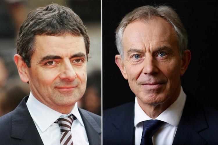 Rowan Atkinson và Tony Blair