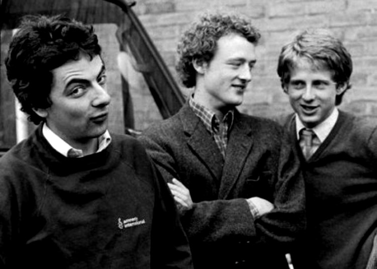 Howard Goodall, Rowan Atkinson và Richard Curtis năm 1980