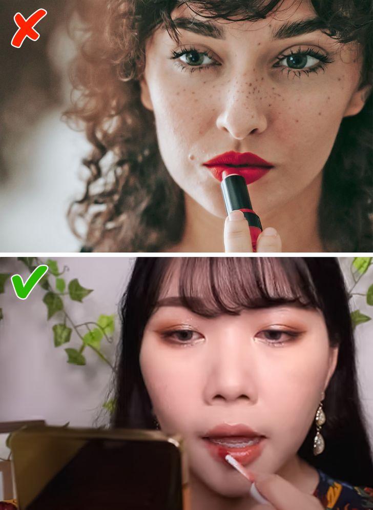 Họ sử dụng son tint, không phải son môi.