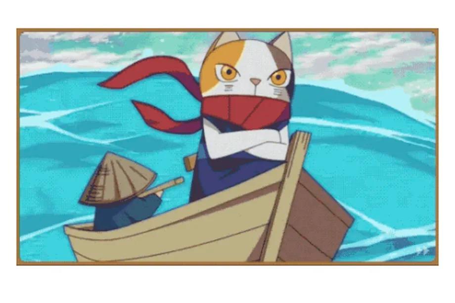 Chú mèo Ninja Lucky. Hình ảnh: Google