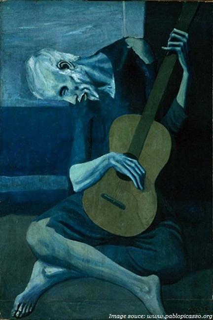 người chơi guitar cũ picasso