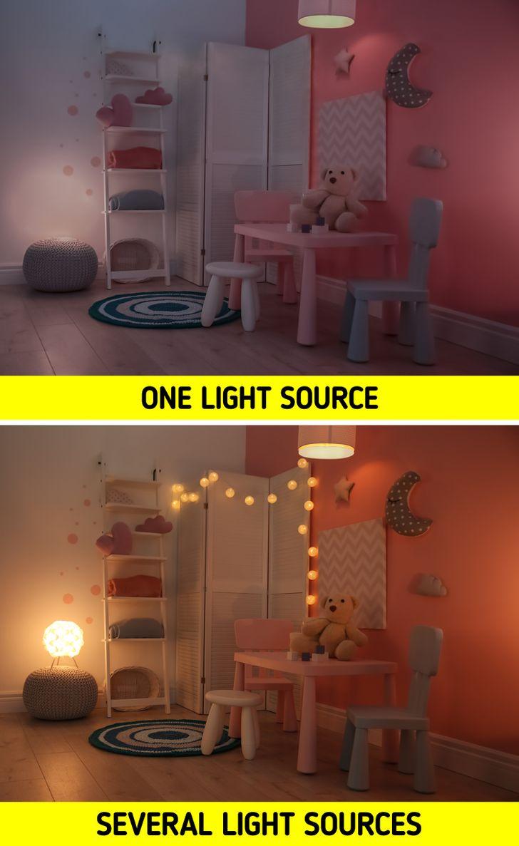 Có một nguồn sáng duy nhất