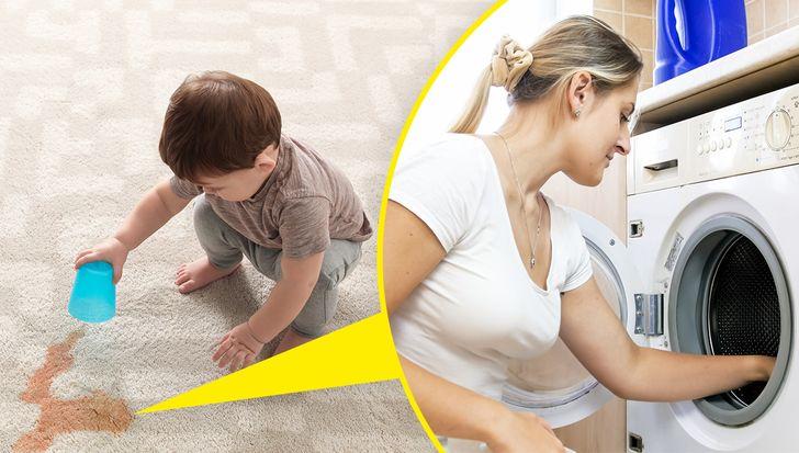 tìm tấm thảm đó dễ lau chùi hoặc rửa sạch à cả chống trượt nữa