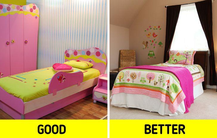 giữ cho các bức tường có tông màu trung tính và tạo điểm nhấn bằng màu sắc