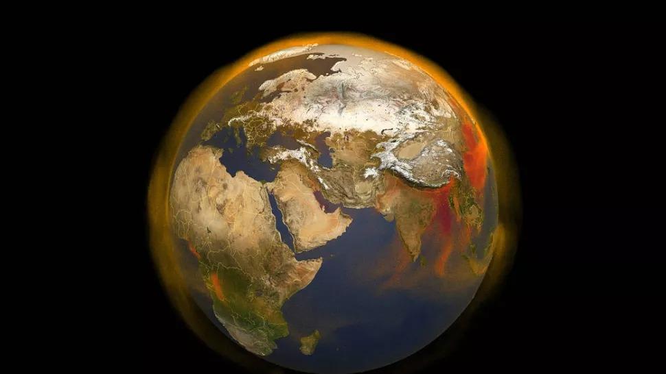 Theo phân tích từ NASA, năm 2020 là năm nóng nhất được ghi nhận. (hình ảnh: NASA / Scientific Visualization Studio)